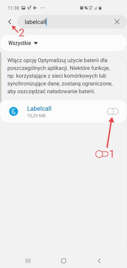 Screen - Optymalizacja Baterii