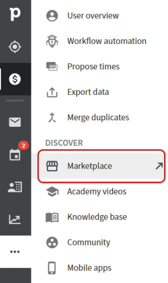 """Screen - go to """"marketplace"""""""