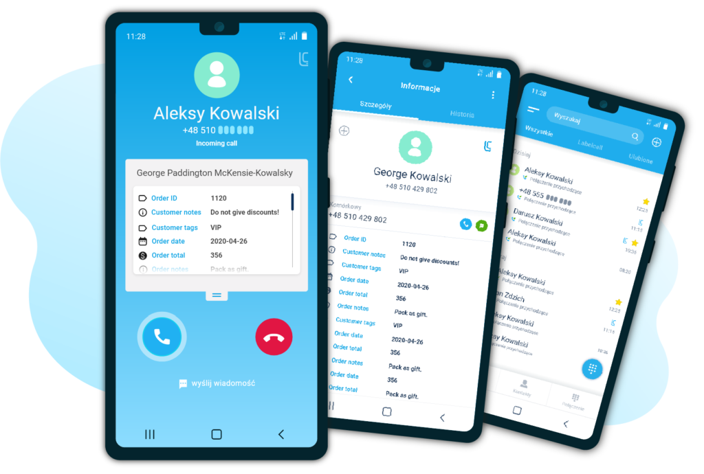 Labelcall - Mobile Screens